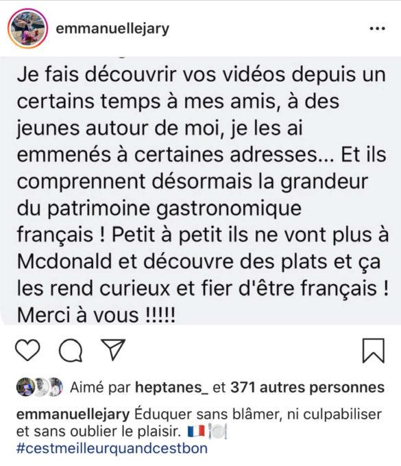 Emmanuelle Jary (C'est meilleur quand c'est bon), critique gastronomique à la bonne franquette !